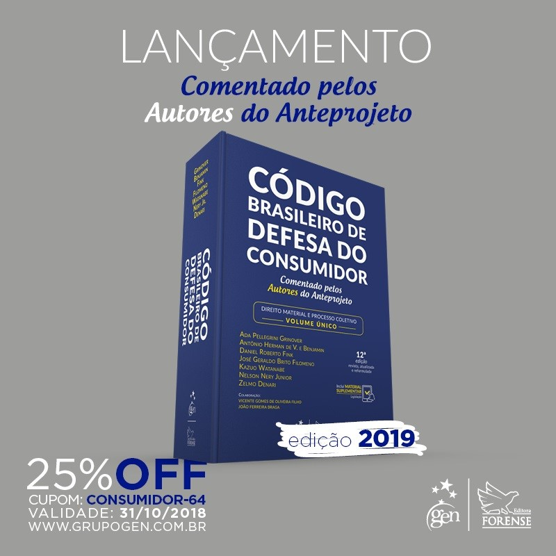 LANÇAMENTO: Código Brasileiro de Defesa do Consumidor – Volume Único