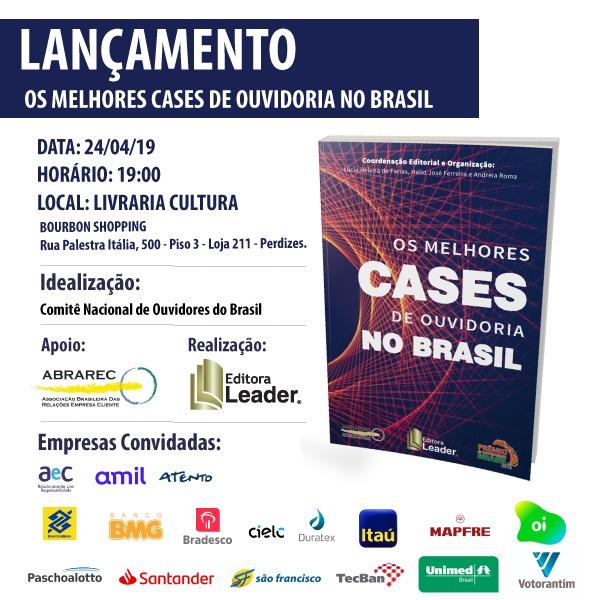 Lançamento do Livro: Os melhores cases de ouvidoria no Brasil